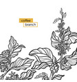 template branch white vector image vector image