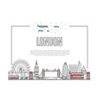 travel london poster in linear style vector image vector image
