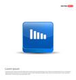 volume icon - 3d blue button vector image
