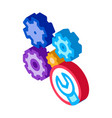 watch gears wrench isometric icon vector image vector image