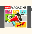 web page design business media magazine on vector image