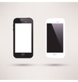 white and black touchscreen smartphone flat design vector image vector image