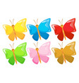 wild butterfly with different color wings vector image vector image