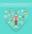 Woman Health and Fitness Infographics vector image vector image
