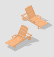 wooden beach bench vector image