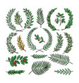 wreath tree branch herald wreathed vector image vector image