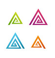 business abstract spiral triangle icon vector image