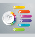infographics design with 6 options vector image