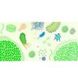 virus bacterium horizontal banner cartoon style vector image