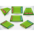 Info Graphic Stadium with Player Placeholder vector image