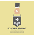 Football or Soccer Pennant Banner vector image
