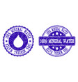 100 mineral water grunge stamp seals