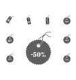 50 sale icon sale and discount vector image vector image