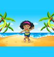 a chubgirl at beach vector image