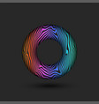 abstract donut logo with bright multicolored vector image vector image