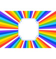 abstract retro rainbow colors background vector image