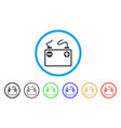 accumulator battery rounded icon vector image vector image
