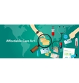 Affordable care act ACA Obama health insurance vector image vector image