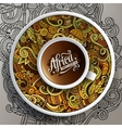 African doodle cup of coffee vector image vector image