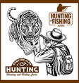 african safari hunting retro poster vector image vector image