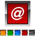 Arroba icons vector image vector image