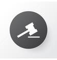 auction icon symbol premium quality isolated vector image