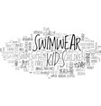 baby swimsuits text word cloud concept vector image vector image