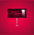 black friday on the billboard and progress loading vector image vector image