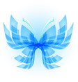 blue butterfly abstract on white background vector image