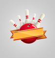 bowling with ribbon realistic theme eps 10 vector image vector image