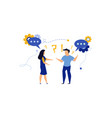 business people social dialogue man and woman vector image vector image
