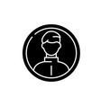 business profile black icon sign on vector image