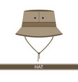 camping hat icon vector image vector image