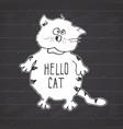 cat sketch handdrawn doodle print design on vector image