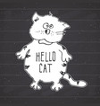 cat sketch handdrawn doodle print design on vector image vector image