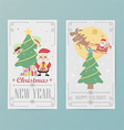 christmas card design Layout template B vector image vector image