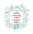Christmas frame for text vector image vector image