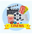 cinema movie poster light vector image