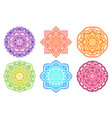 colorful gradient mandala ethnic round ornament vector image vector image