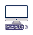 computer with keyboard and mouse vector image vector image