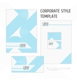 corporate identity template line vector image vector image