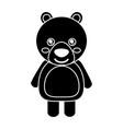 cute bear animal standing cartoon wildlife vector image