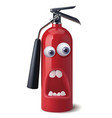fire extinguisher face representing panic 3d vector image vector image