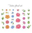 floral design set vector image vector image