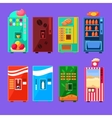 Food And Drink Vending Machines Design Set vector image vector image