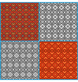 Four seamless ethnic patterns vector image