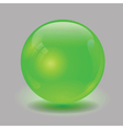 green glass sphere vector image vector image