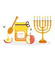 Greeting card for the Jewish New Year Rosh Hashana vector image vector image