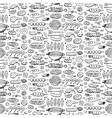 Grill-barbecue doodle set vector image vector image