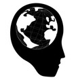 head world vector image vector image
